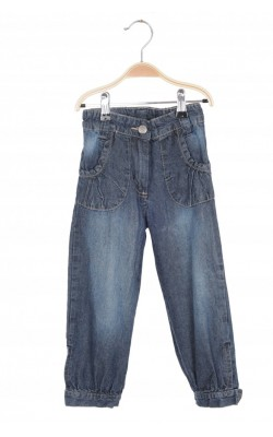 Jeans bleumarin Pretty Sille, talie ajustabila, 3-4 ani