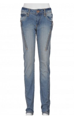 Jeans skinny Cubus, fermoare decorative, marime 34