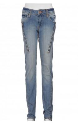 Jeans skinny Cubus, fermoare decorative, marime 34