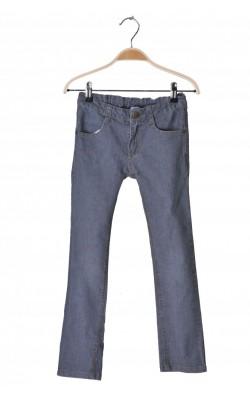 Jeans skinny gri, talie ajustabila, 8 ani