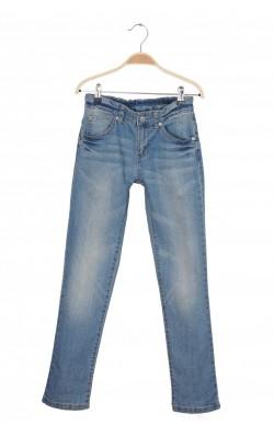 Jeans slim leg Benetton, talie ajustabila, 11-12 ani