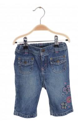 Jeans broderie fluturi Sonoma, talie ajustabila, 18 luni