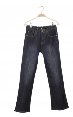 Jeans stretch bleumarin Point Zero, talie reglabila, 11-12 ani