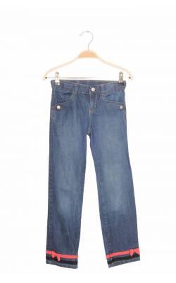 Jeans tiv cu funda roz Gymboree, talie ajustabila, 8 ani