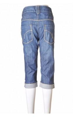 Jeans Vero Moda, decor alb cu fir metalic, marime M