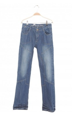 Jeans Vertbaudet, straight fit, talie ajustabila, 14 ani