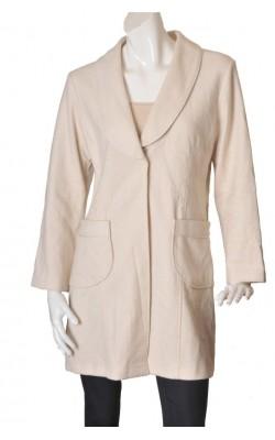 Mantou elegant cu broderie Fransa, amestec lana marime XL