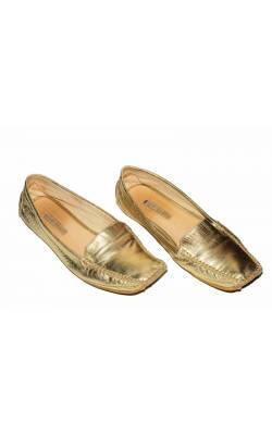 Mocasini New Shoes, piele aurie, marime 40