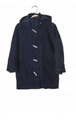 Palton bleumarin vatuit H&M, stofa lana, 7 ani