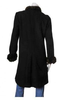 Palton Carla F, guler blanita, marime 38