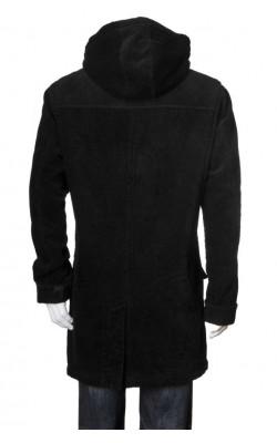 Palton catifea reiata Mario Conti, captuseala polar, marime XL