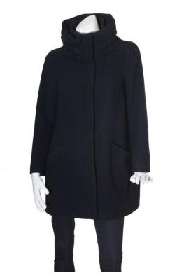 Palton bleumarin Zara, lana si camir, marime L