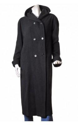 Palton cu gluga Kello, amestec lana, marime 48