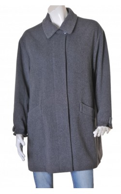 Palton gri stofa lana, marime 44