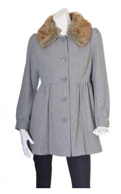 Palton guler blana detasabil H&M, mix lana, marime L