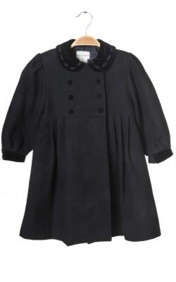 Palton lana si catifea Pomme Framboise Paris, 4-5 ani