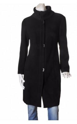 Palton negru amestec lana Easy Comfort, marime L
