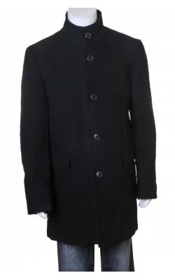 Palton negru amestec lana Selected, marime M