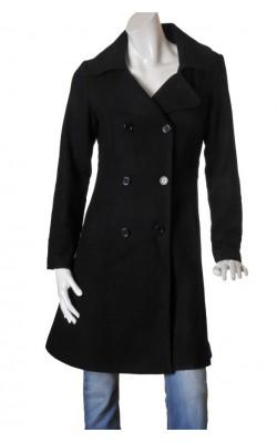 Palton negru cambrat Cubus, marime 38
