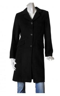Palton negru cambrat H&M Hennes, lana si casmir, marime 40