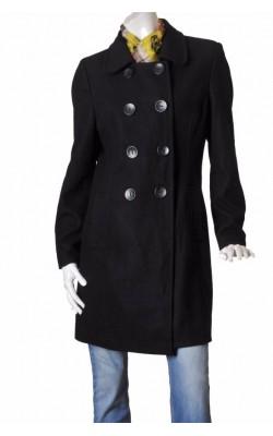 Palton negru de lana Estelle, marime XL