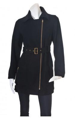 Palton negru lana B.Young, marime M