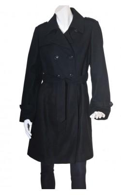 Palton negru lana Donna, marime 44