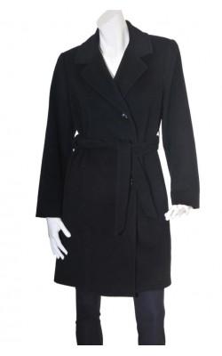Palton negru lana si casmir, marime 46