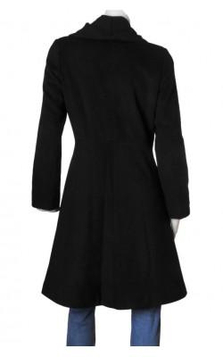 Palton negru L'evolution, amestec lana, marime 38