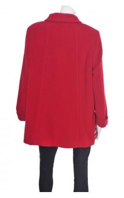 Palton rosu City Look, lana si casmir Lanificio F.LLi Balli, marime 48