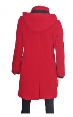 Palton rosu inchis Tara, lana, marime L