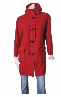 Palton rosu Kelby, amestec lana, marime 44