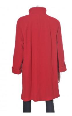 Palton rosu lana Herluf Design, marime 48/50