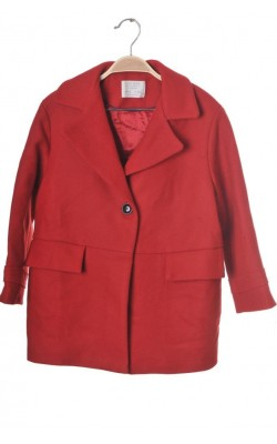 Palton rosu lana Zara, 9 ani