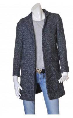 Palton tesatura lana si mohair H&M, marime 36