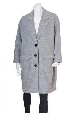 Palton usor H&M, mix lana, marime XXL