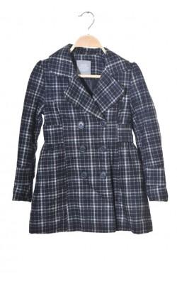 Palton vatuit Lindex, croi cambrat, mix lana, 9 ani