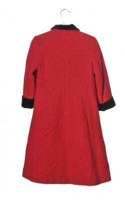 Paltonas rosu lana Laura Ashley, 7 ani