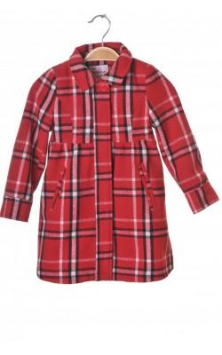 Paltonas rosu Twinkle, amestec lana, 3 ani