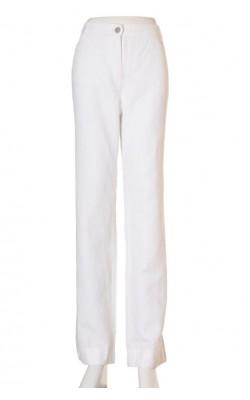Pantaloni albi amestec in Brax, marime 46
