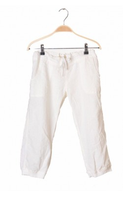 Pantaloni albi bumac texturat H&M, 13-14 ani