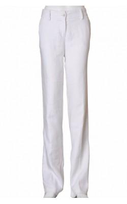 Pantaloni albi de in Benetton, croi drept, marime 40