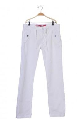 Pantaloni albi de in S.Oliver, marime 42