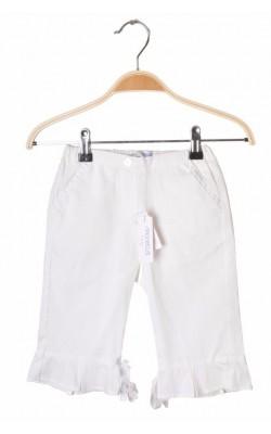 Pantaloni albi din bumbac Simonetta, 4-5 ani