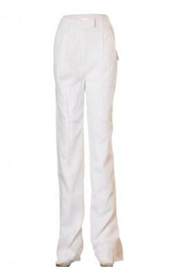 Pantaloni albi Gina Tricot, marime 38