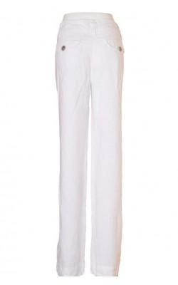 Pantaloni albi Jean Paul, panza de in, marime 42