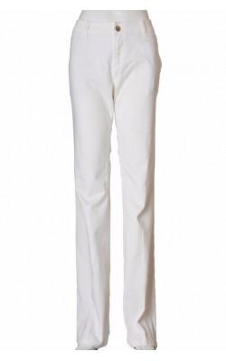 Pantaloni albi Laura Clement, marime 40