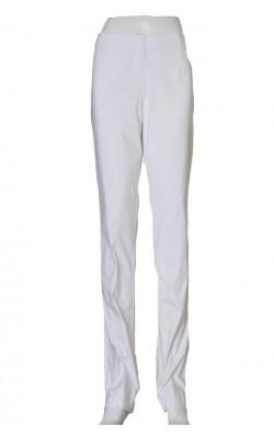 Pantaloni albi stretch Friendtex, marime 40