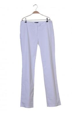 Pantaloni albi Tommy Hilfiger, croi drept, marime 42