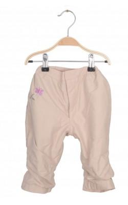 Pantaloni bej captusiti Fixoni, impermeabili, 9 luni